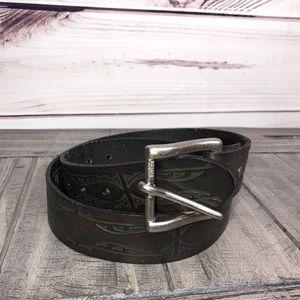 Levi's Leather Tooled Belt Medium 34 / 36